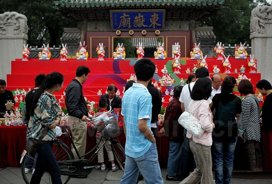 In Beijing, worship Rabbit Ye is very popular on Mid-autumn Day