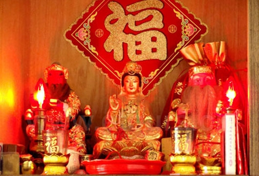 You can see the shrine in almost every family in southern part of Fukien Province.