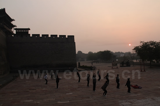 Sunrise over Pingyao Ancient City 1