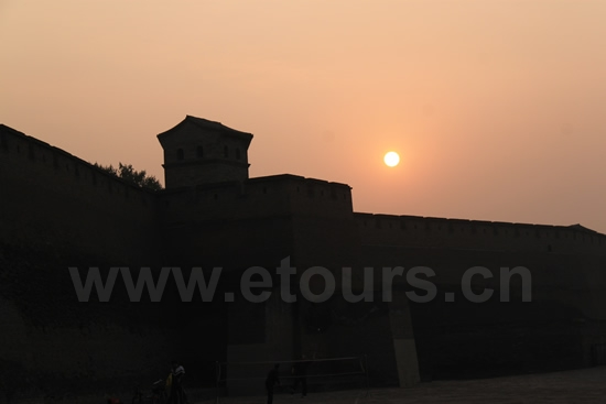 Sunrise over Pingyao Ancient City 3