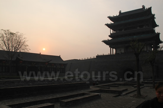 Sunrise over Pingyao Ancient City 4
