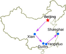 Beijing Xian Guilin Yangshuo Shanghai 11 Days Private Tour