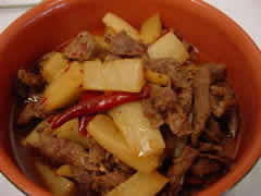 Boiled Beef with Polygonatum